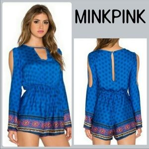 NEW MINKPINK Gypsy Queen Playsuit Cold Shoulder